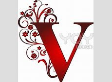Royalty Free Vector Of Capital Letter V Red