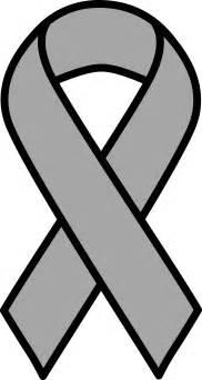 brain cancer color clipart grey brain cancer ribbon