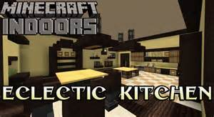 eclectic kitchen in yellow minecraft indoors interior