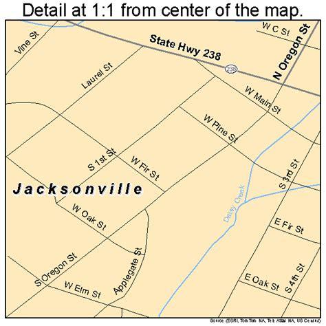 map of jacksonville oregon jacksonville oregon map 4137000