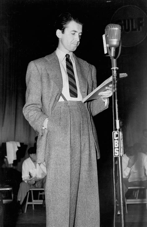 1940s men s fashions classic hollywood films jimmy stewart on the radio vintage 1940s mens style 40s