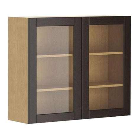 Fabritec 36x30x12 5 In Barcelona Wall Cabinet In Maple Cabinet Door Glass