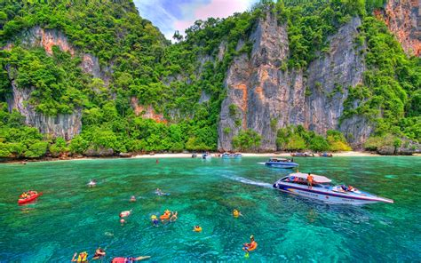 speed boat to phi phi island phi phi island by speed boat yourtripthailand