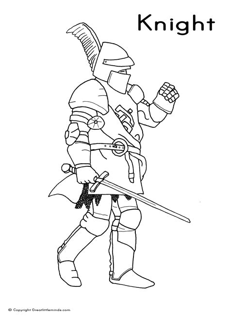 knight lord colouring page