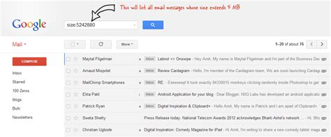 Search For An Email In Gmail Gmail Size Search Finds Emails With Large Attachments