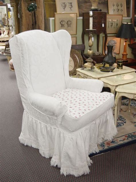 shabby chic slipcovers for wingback chairs newport avenue antiques vintage shabby chic custom