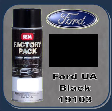 sem 19103 sem factory pack basecoat ford paint code ua quot black quot 16oz aerosol