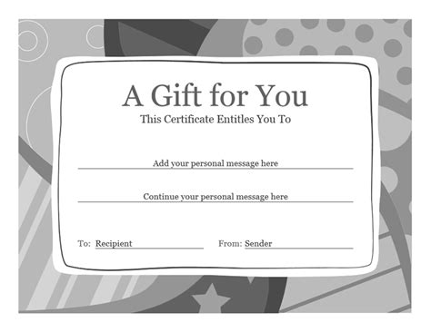 Download Gift Certificate Template Word for Microsoft