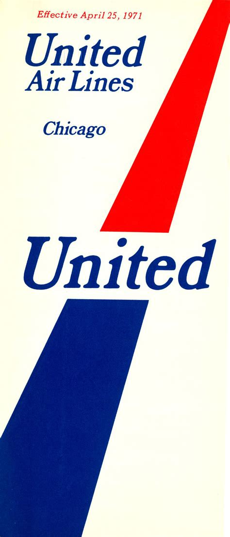 Airline Time Table Collection by United Airlines On Board With Design