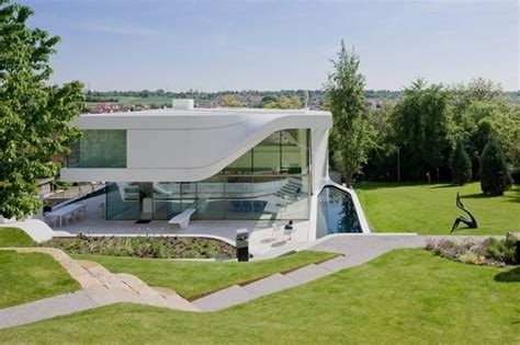 beautiful modern villa on the steeped terraces of a