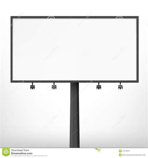 billboard template blank black billboard vector illustration stock vector