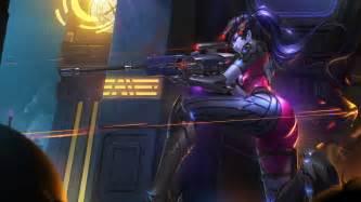 Game Maker widowmaker sniping overwatch girl wallpaper 12569