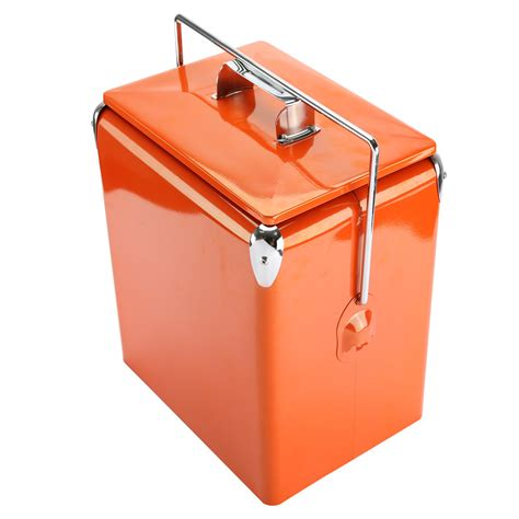 Puku Cooler Box Orange kinlife mini retro metal picnic cooler box 18 quart