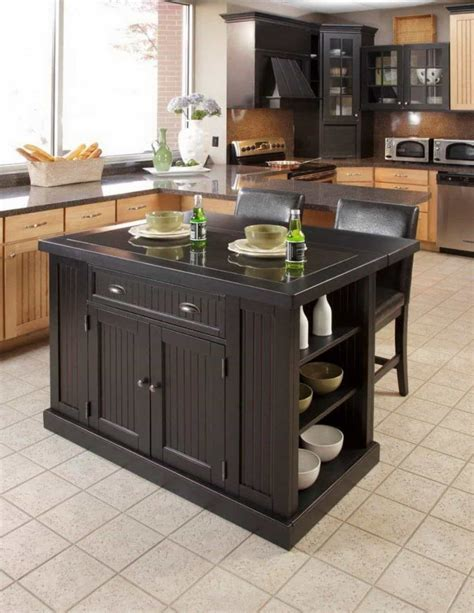 island table kitchen space saving kitchen island table for extra storage