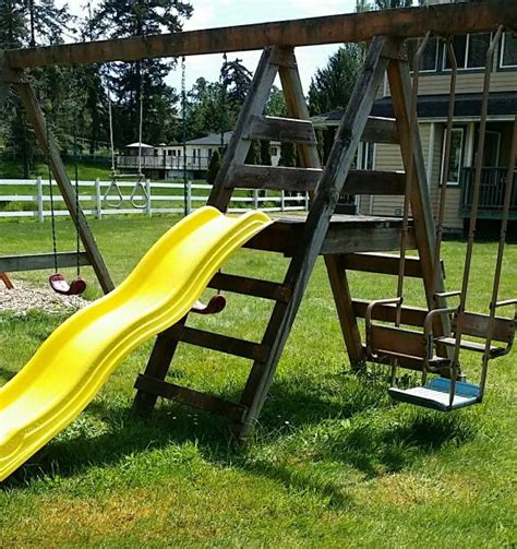 large wooden swing sets swing n slide large wooden swing set saanich victoria