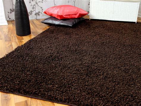 hochflor teppich hochflor langflor teppich shaggy braun sonderaktion