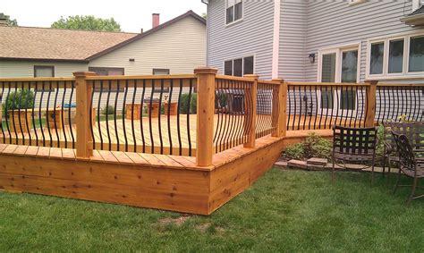 hand crafted cedar deck rebuild  lee custom remodeling
