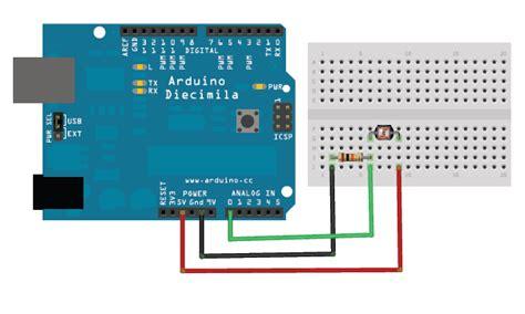 photoresistor to arduino jubito arduino light sensing