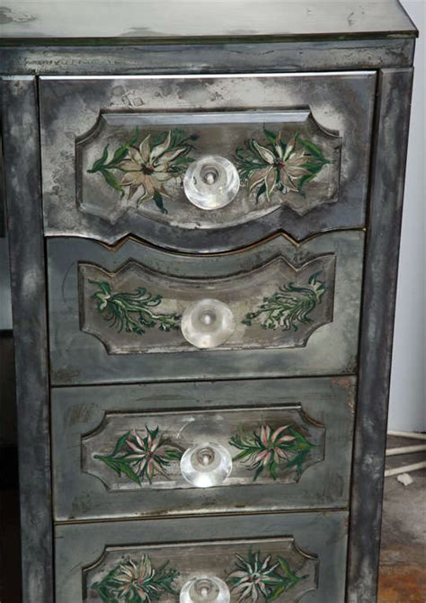 Vintage Mirrored Vanity by Vintage Eglomise Mirrored Desk Vanity At 1stdibs