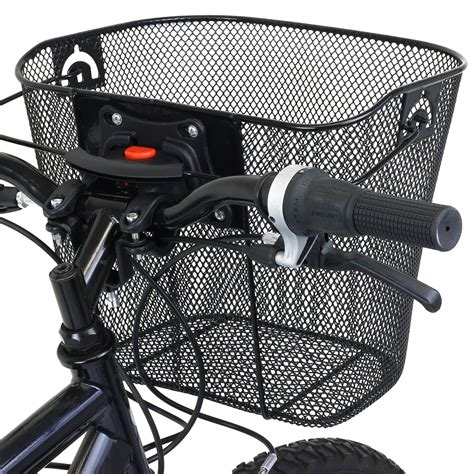 support velo 745 pedalpro bike bicycle metal mesh basket release