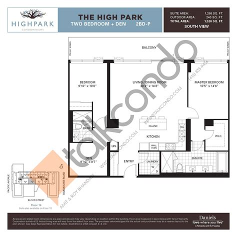 daniels high park floor plans thefloors co