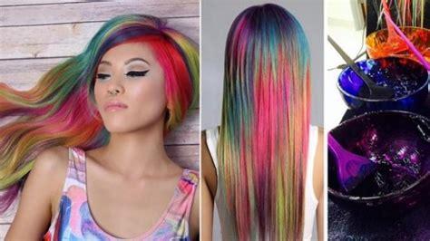 Top Clare Dua Warna fashion diahsintya gaya warna rambut remaja masa kini