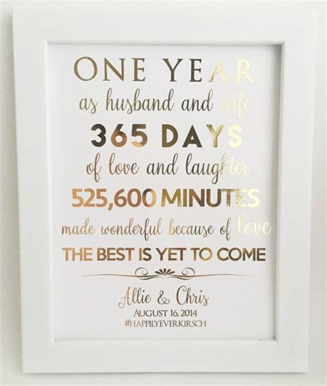 Wedding Anniversary Gift For Husband 1 Year by 1st Anniversary Gift Anniversary Gift For