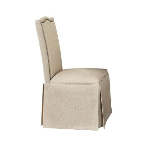 Coaster Parkins Parson Dining Chair With Skirt In Light Dining Chair Skirts