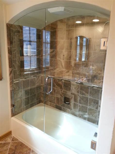Tub With Glass Shower Door Glass Shop Framed Mirrors Tub Enclosures Beavercreek Oh A Service Glass Inc Shower