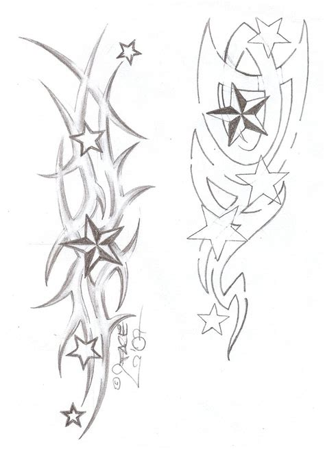 tribal star tattoos designs tattooflash tribal by 2face on deviantart