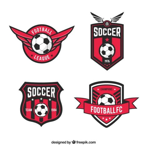 football team logo template football league badges vector free