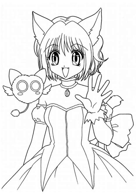 easy anime character coloring pages