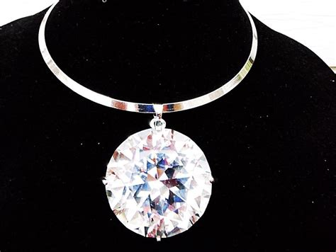 large pendants for jewelry large big clear gem rhinestone necklace bib