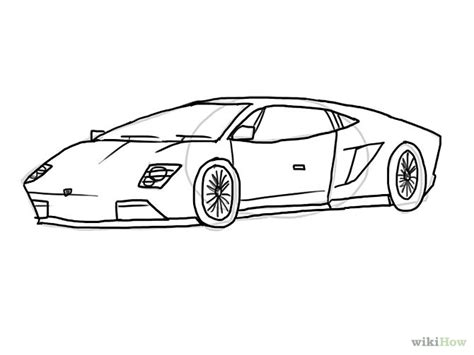 lamborghini aventador drawing outline lamborghini outline gallery