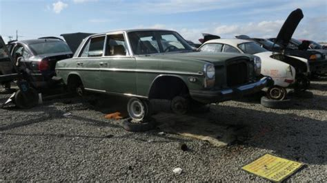 mercedes wrecking yard junkyard find 1975 mercedes 240d the about cars