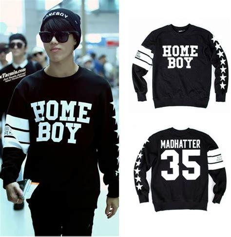 2014 autumn shinee taemin same type home boy pullover o neck s sweatshirt hoodie in