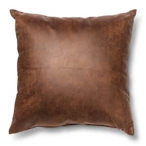 square faux leather throw pillow brown threshold target