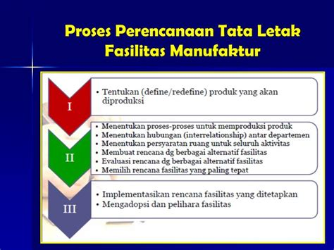 perencanaan layout tata letak pabrik ppt tata letak fasilitas pabrik powerpoint presentation