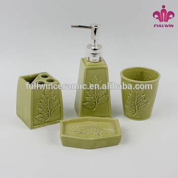 Light Green Bathroom Accessories by Ceramic Green Bathroom Accessories Set Ceramic Bath Set 4