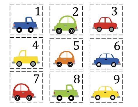 printable math number cards preschool car printables number cards 1 50 good for