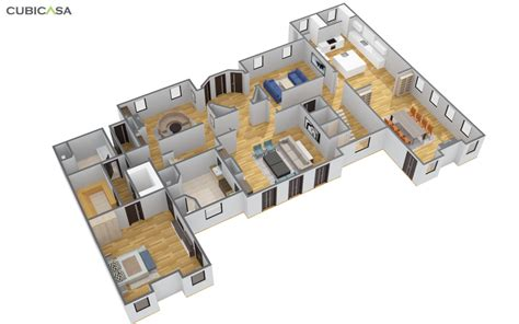 Floorplan House cubicasa creates 2d and 3d floor plans for matterport