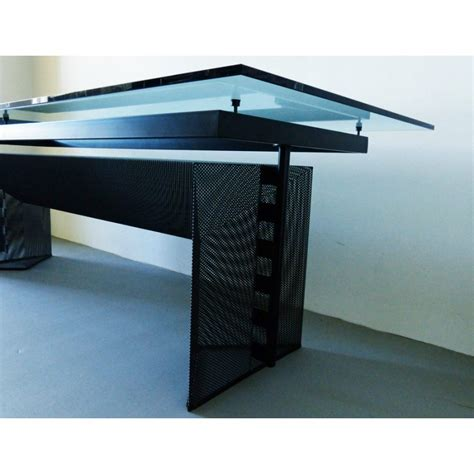 bureau table en verre table bureau quot tesi quot en m 233 tal et verre mario botta