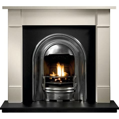 Brompton Limestone Fireplace by Gallery Brompton Limestone Fireplace With Sutton Cast Iron