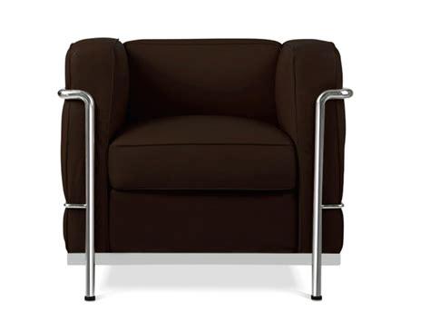 corbusier fauteuil lc2 fauteuil le corbusier marron