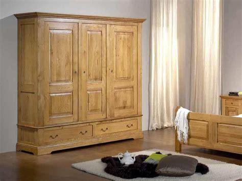 armoire rustique honfleur en ch 234 ne 3 portes 2 tiroirs