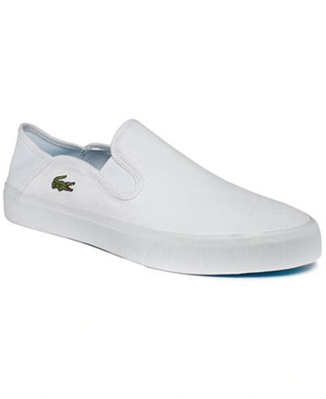 lacoste bellevue slip on shoes shoes macy s