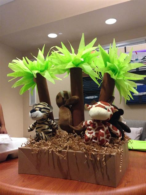 Baby Shower Materials by Jungle Themed Baby Shower Centerpiece Made Out Of