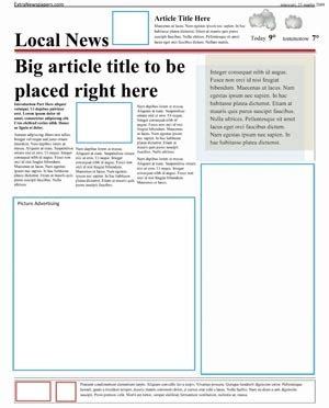 template of newspaper article free newspaper template pack for word for school