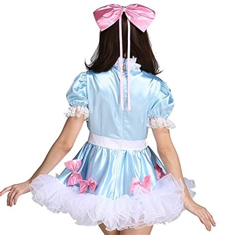 cross dressing costume stories gocebaby sissy girl lockable maid bow dress stain puffy