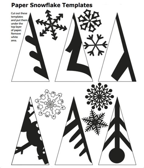 Snowflakes Cut Out Templates Invitation Template Paper Cut Out Templates